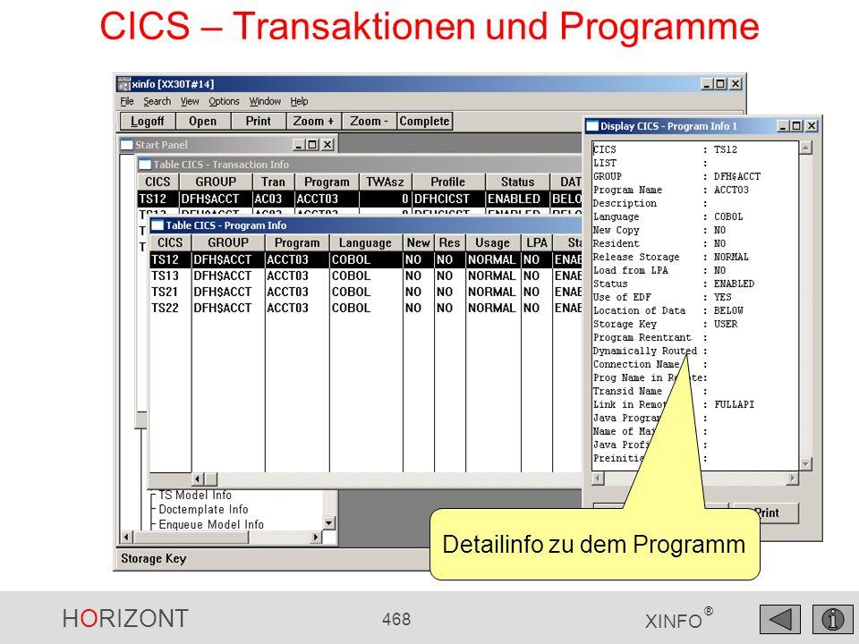 CICS – Transaktionen und Programme