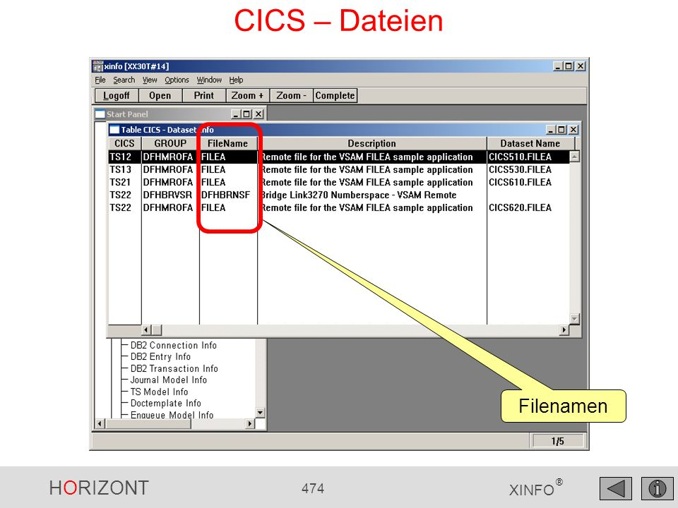 CICS – Dateien Filenamen