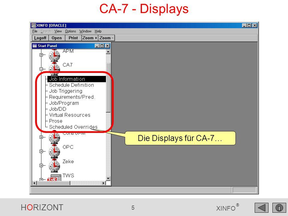 CA-7 - Displays Die Displays für CA-7…