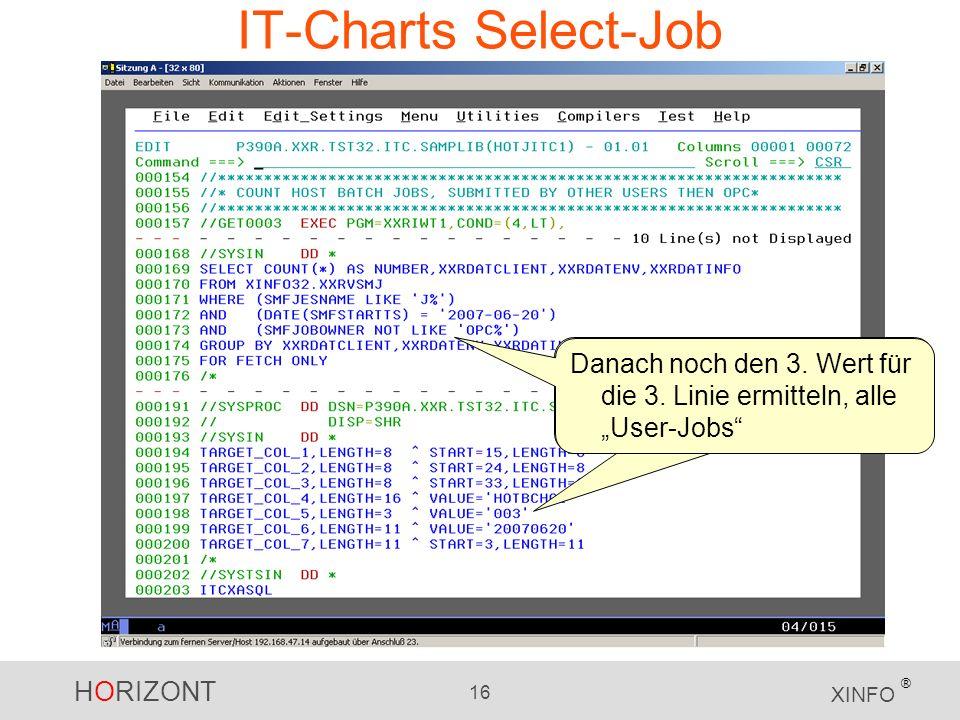 """IT-Charts Select-Job Danach noch den 3. Wert für die 3. Linie ermitteln, alle """"User-Jobs"""