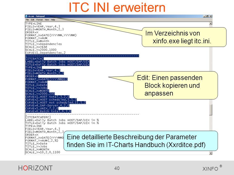 ITC INI erweitern Im Verzeichnis von xinfo.exe liegt itc.ini.