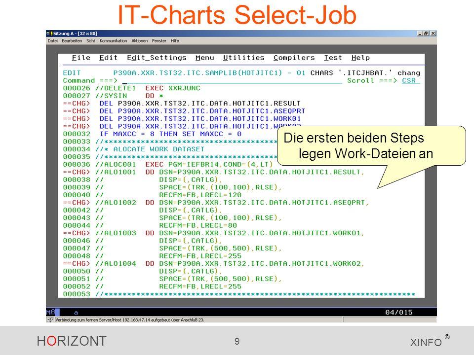 IT-Charts Select-Job Die ersten beiden Steps legen Work-Dateien an