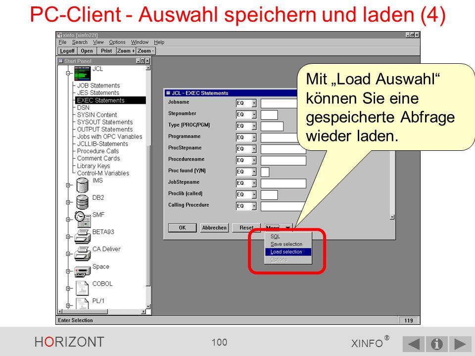 PC-Client - Auswahl speichern und laden (4)