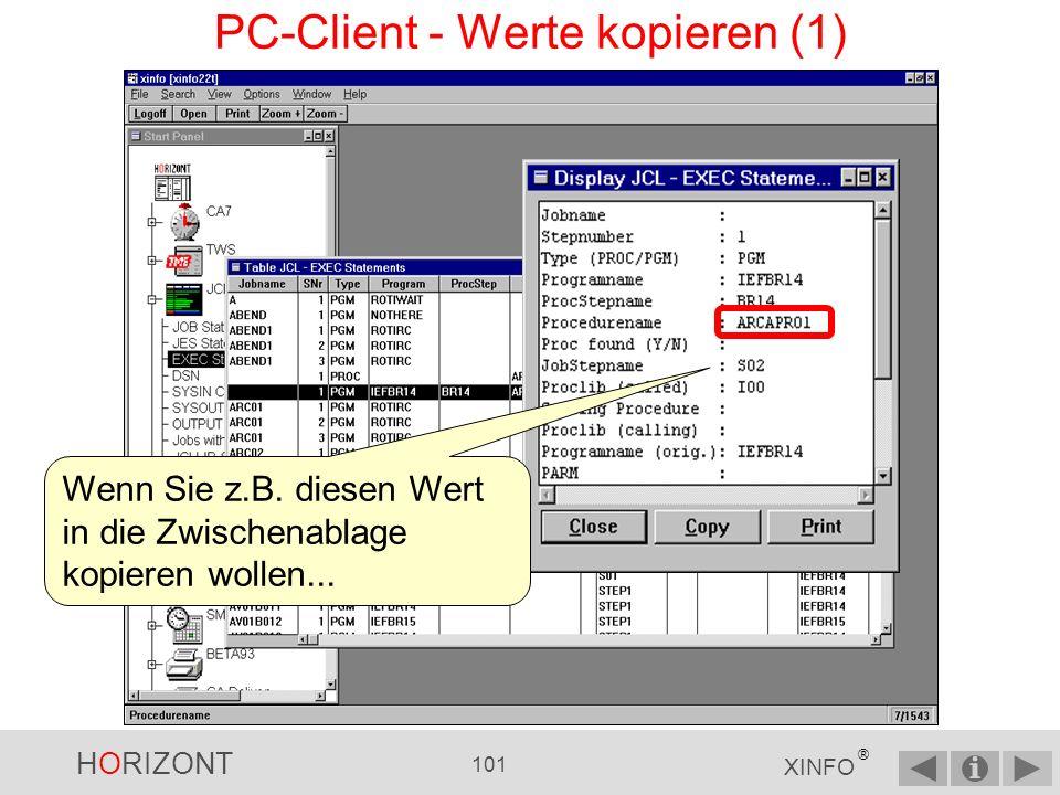 PC-Client - Werte kopieren (1)