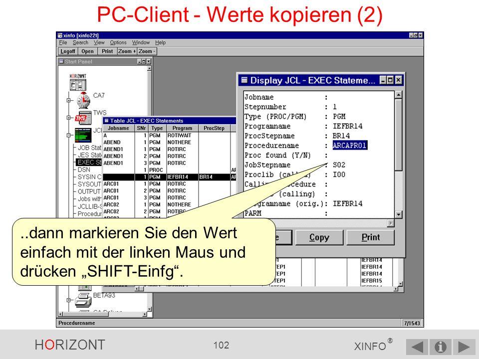 PC-Client - Werte kopieren (2)