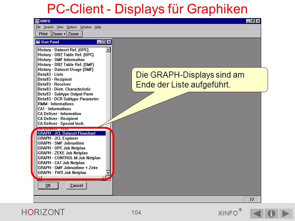 PC-Client - Displays für Graphiken