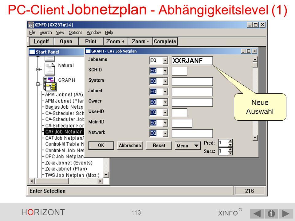 PC-Client Jobnetzplan - Abhängigkeitslevel (1)