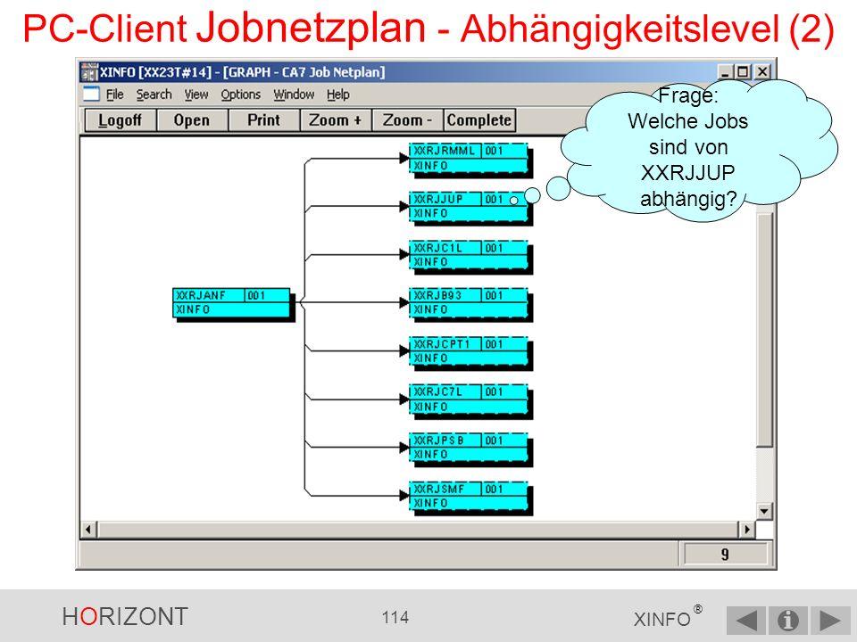 PC-Client Jobnetzplan - Abhängigkeitslevel (2)