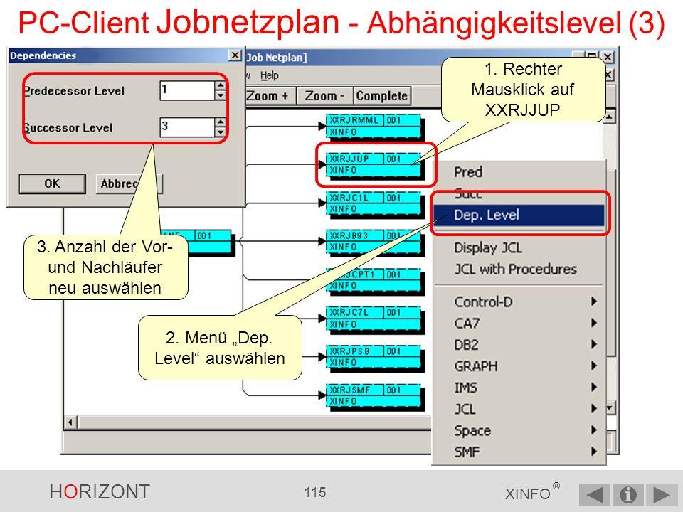 PC-Client Jobnetzplan - Abhängigkeitslevel (3)