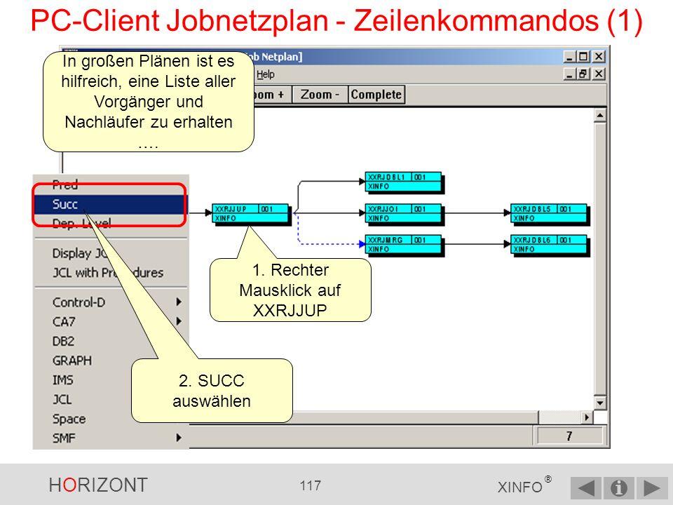 PC-Client Jobnetzplan - Zeilenkommandos (1)