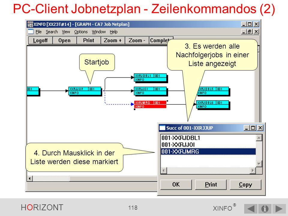 PC-Client Jobnetzplan - Zeilenkommandos (2)