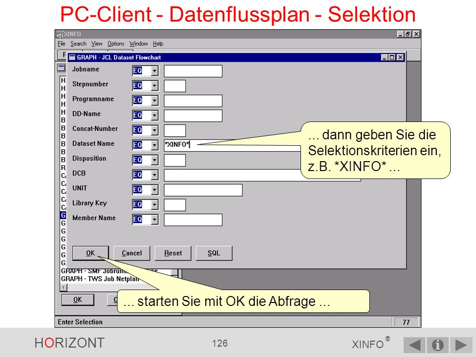 PC-Client - Datenflussplan - Selektion