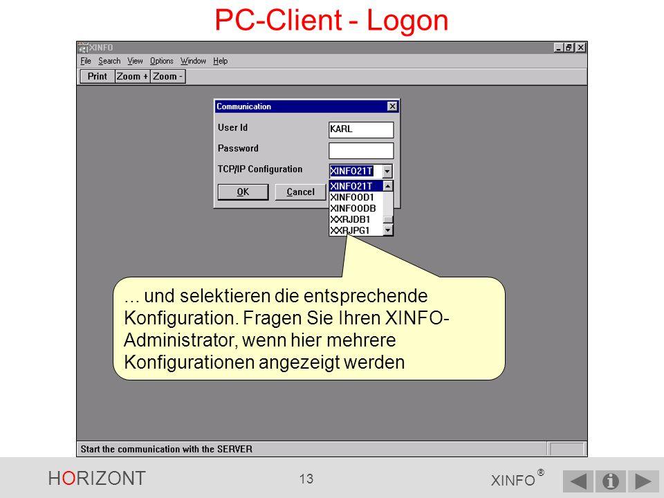 PC-Client - Logon