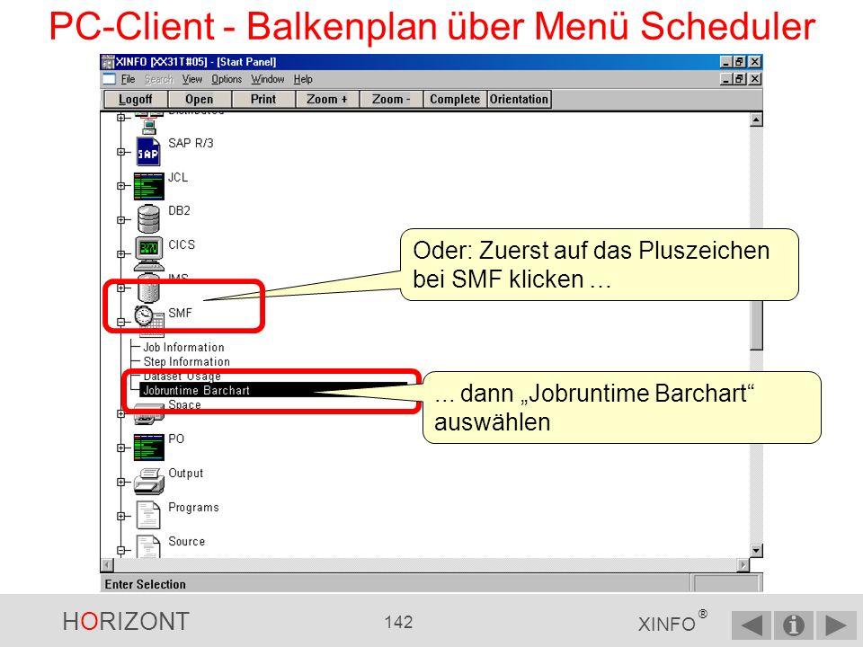 PC-Client - Balkenplan über Menü Scheduler