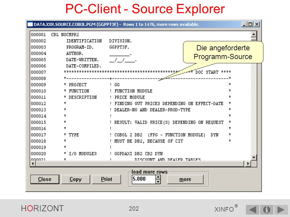 PC-Client - Source Explorer
