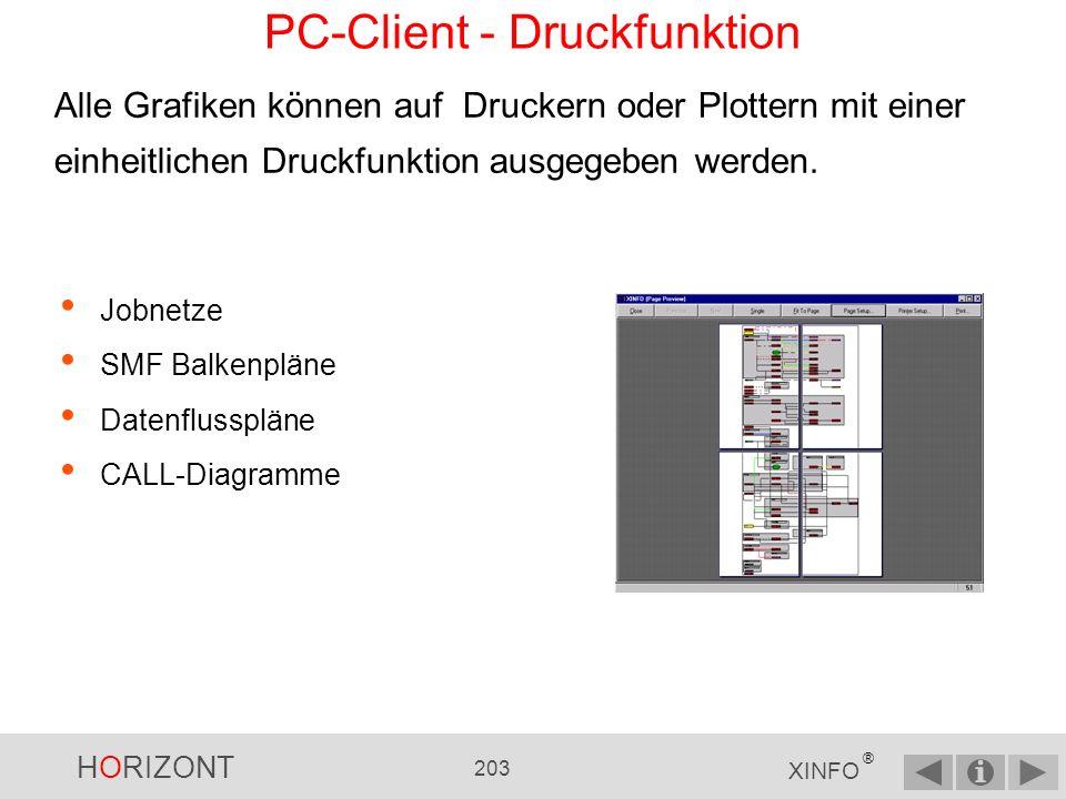PC-Client - Druckfunktion