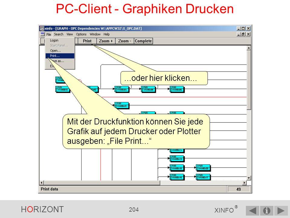 PC-Client - Graphiken Drucken