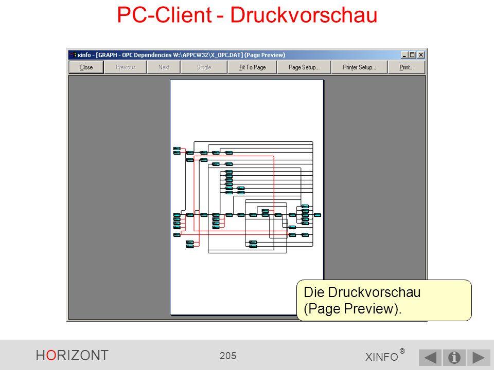 PC-Client - Druckvorschau