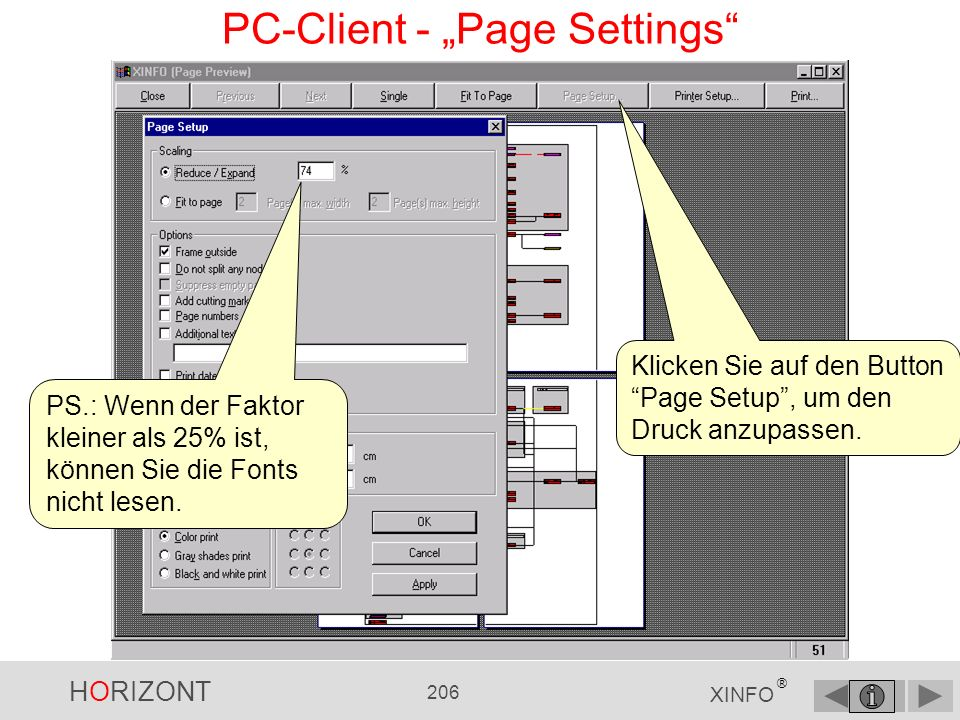 "PC-Client - ""Page Settings"