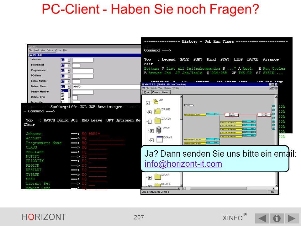 PC-Client - Haben Sie noch Fragen