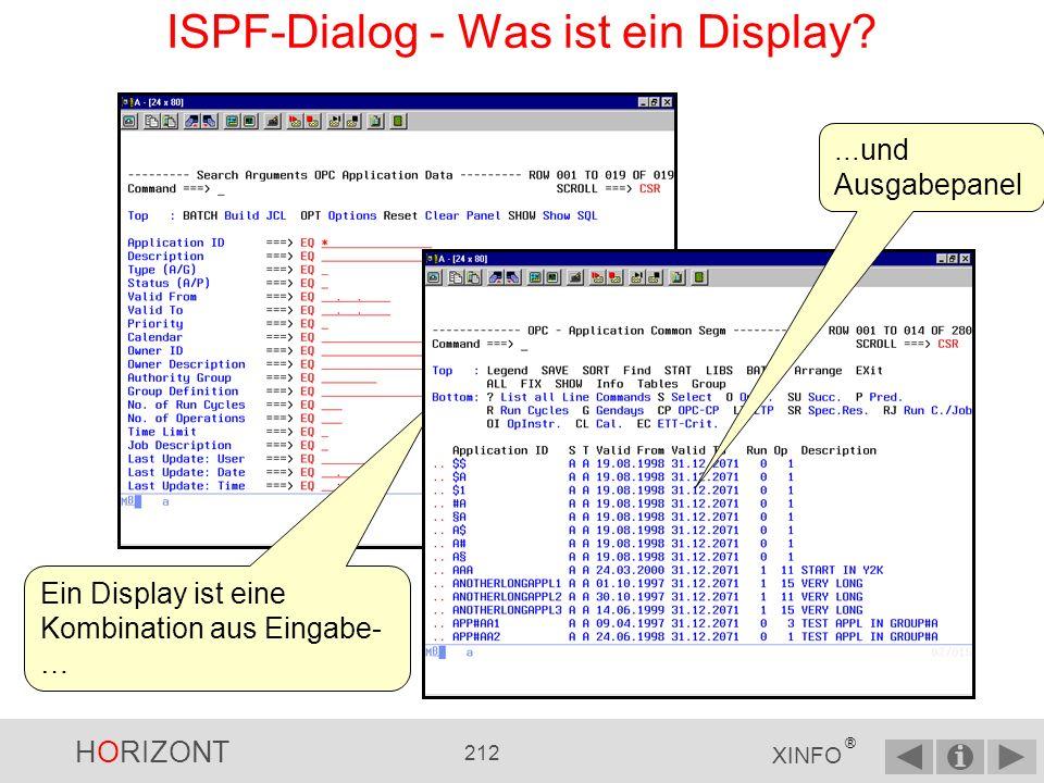 ISPF-Dialog - Was ist ein Display