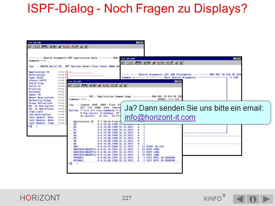 ISPF-Dialog - Noch Fragen zu Displays