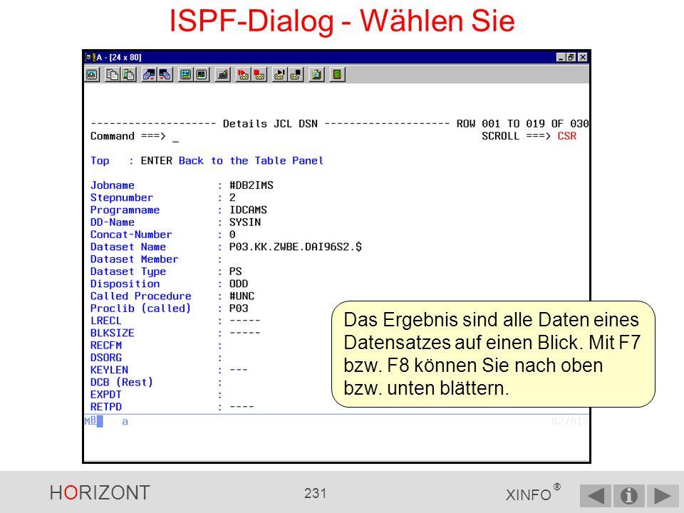 ISPF-Dialog - Wählen Sie