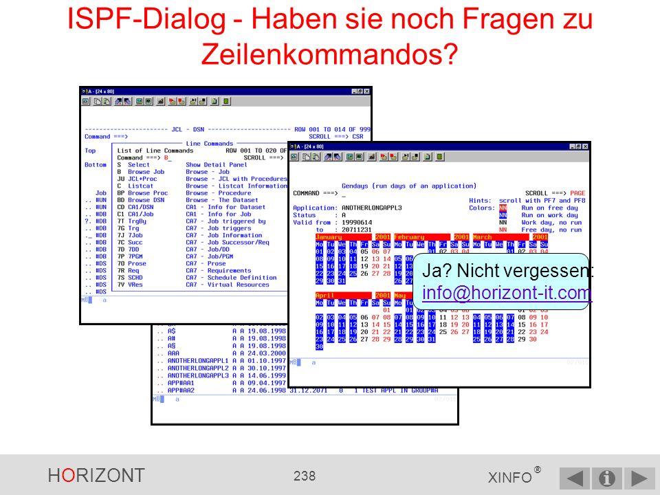 ISPF-Dialog - Haben sie noch Fragen zu Zeilenkommandos