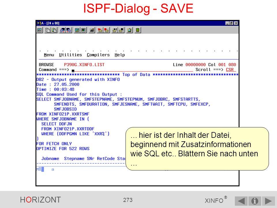 ISPF-Dialog - SAVE ...