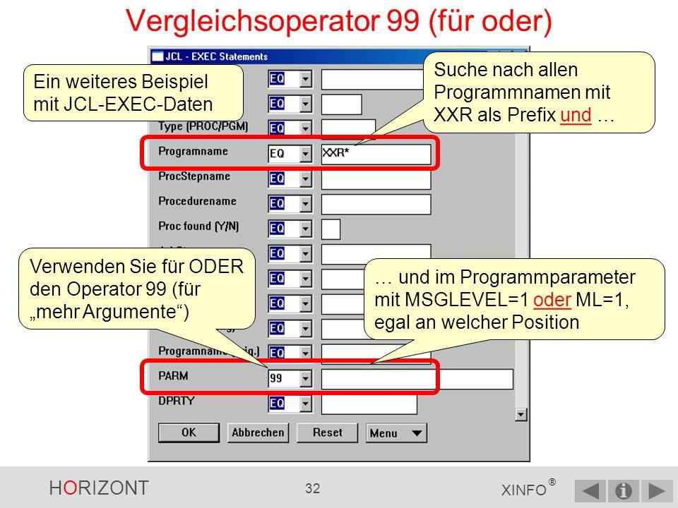 Vergleichsoperator 99 (für oder)