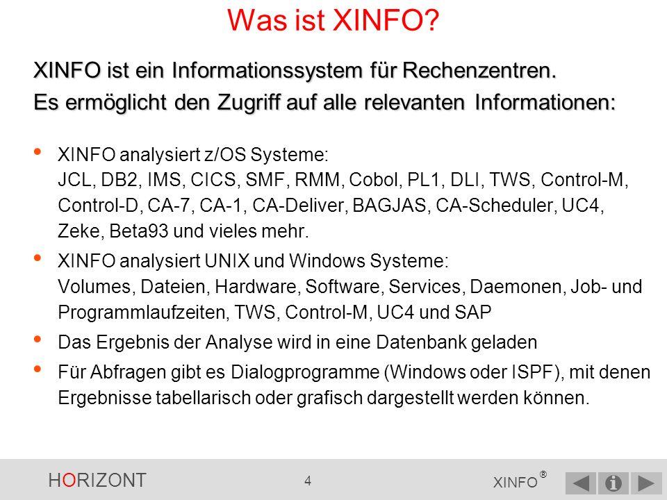 Was ist XINFO XINFO ist ein Informationssystem für Rechenzentren. Es ermöglicht den Zugriff auf alle relevanten Informationen: