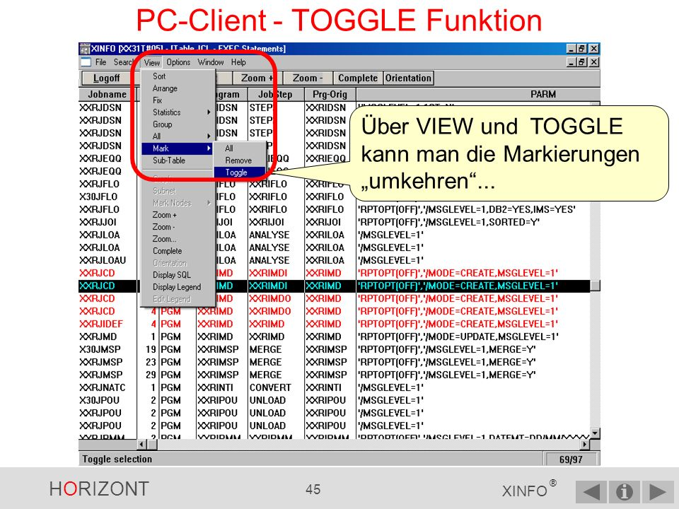 PC-Client - TOGGLE Funktion