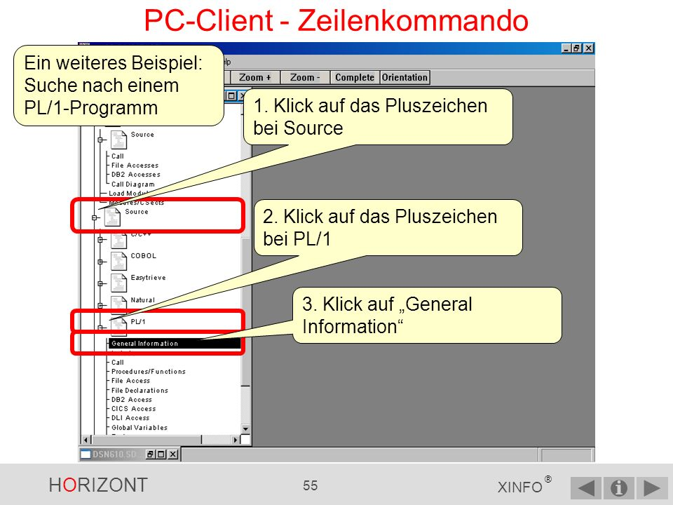 PC-Client - Zeilenkommando