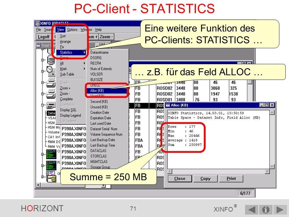 PC-Client - STATISTICS