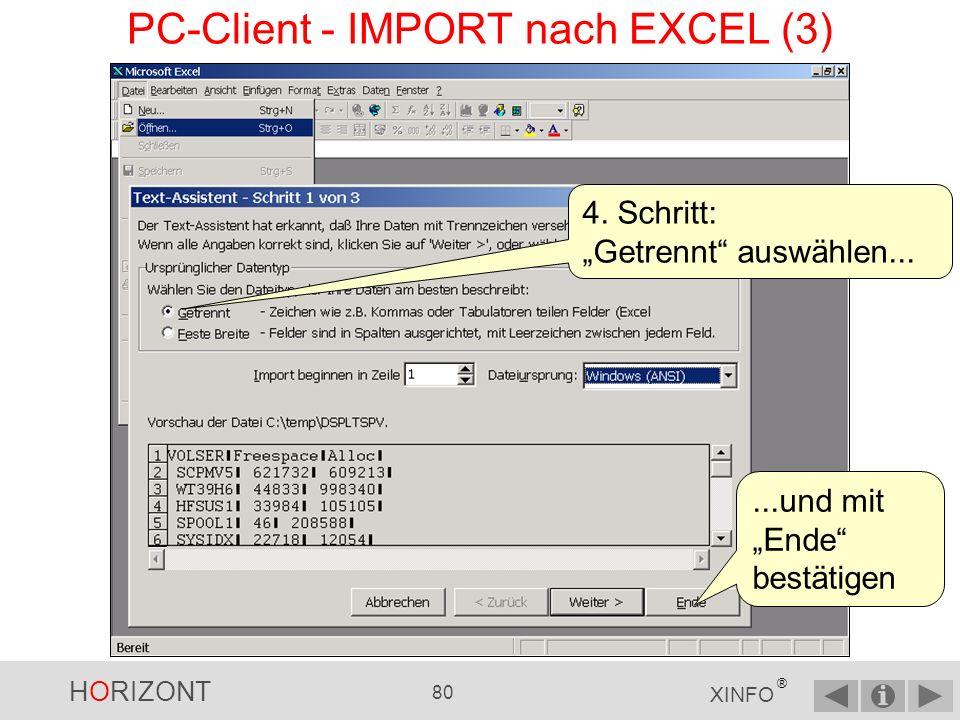 PC-Client - IMPORT nach EXCEL (3)