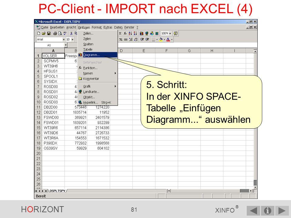 PC-Client - IMPORT nach EXCEL (4)