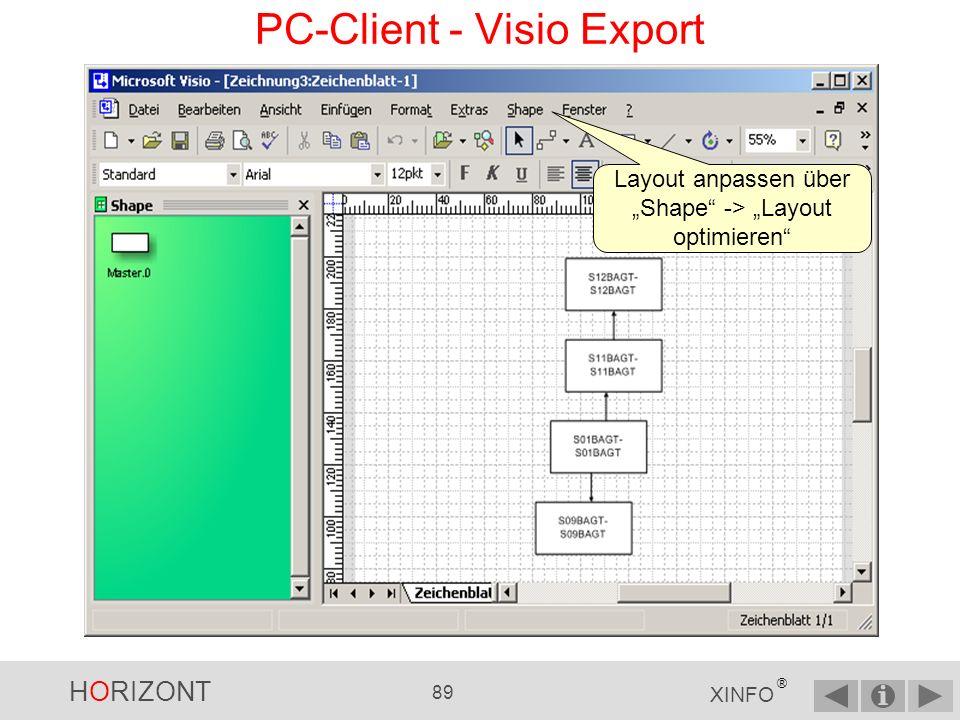 PC-Client - Visio Export