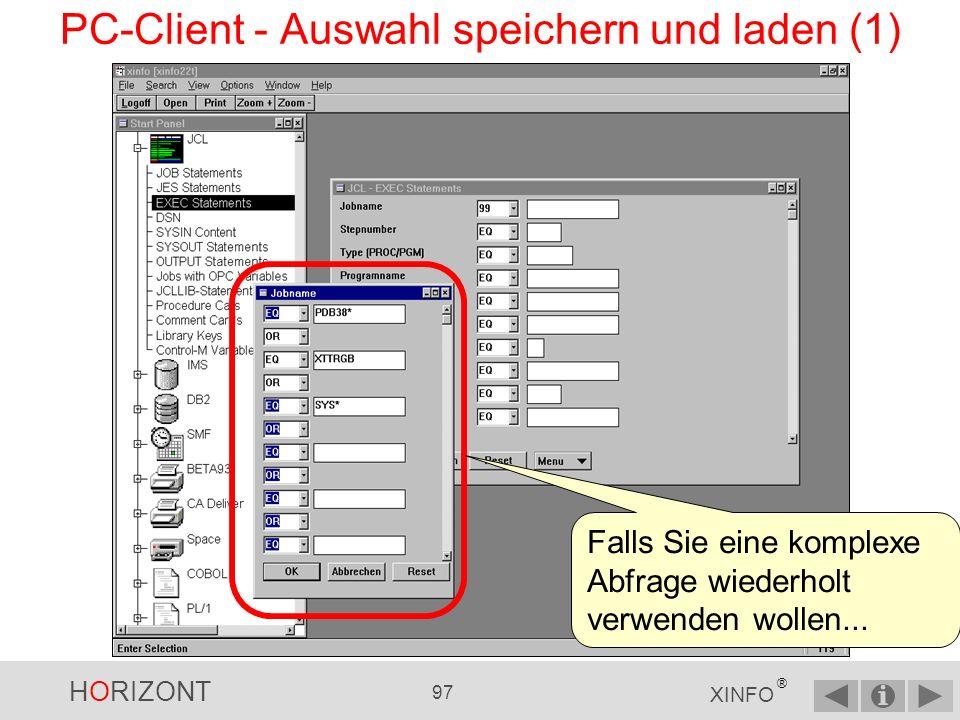 PC-Client - Auswahl speichern und laden (1)