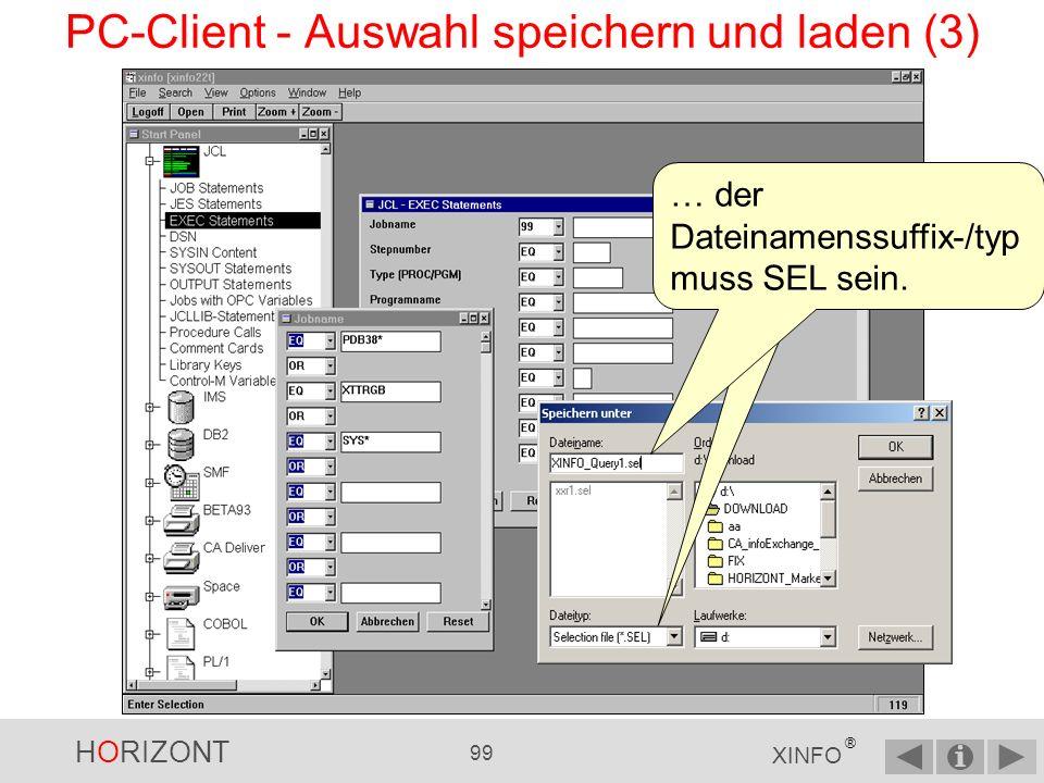 PC-Client - Auswahl speichern und laden (3)