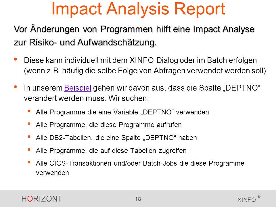 Impact Analysis Report