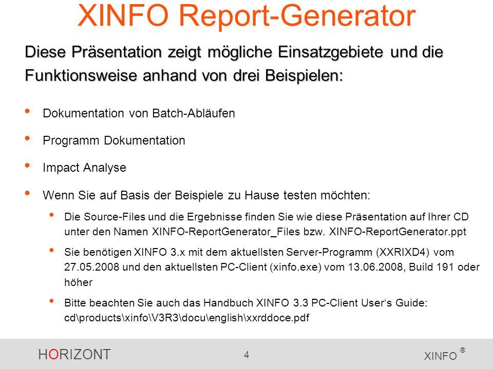 XINFO Report-Generator
