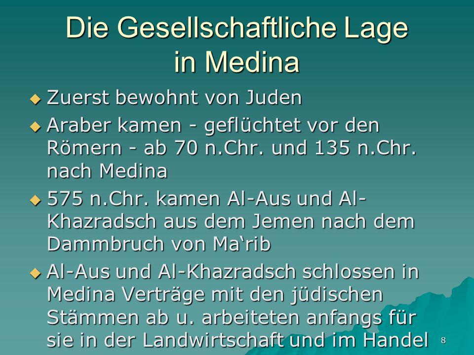 Die Gesellschaftliche Lage in Medina