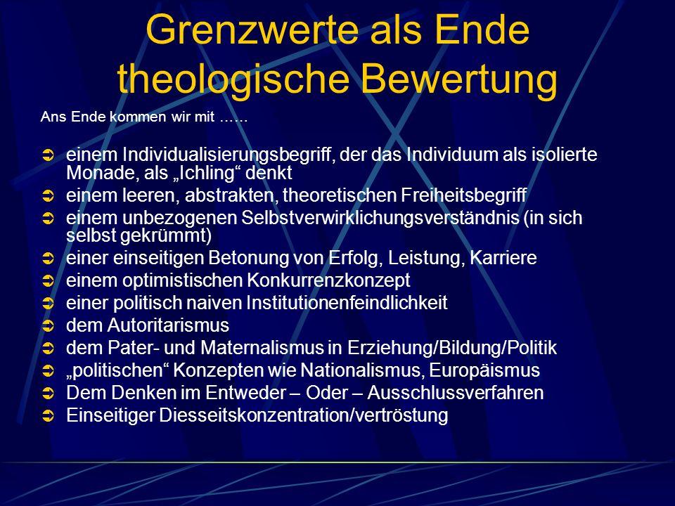 Grenzwerte als Ende theologische Bewertung