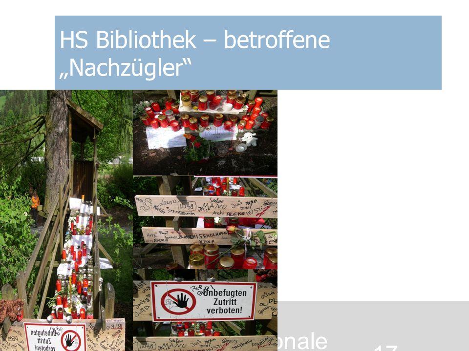 """HS Bibliothek – betroffene """"Nachzügler"""