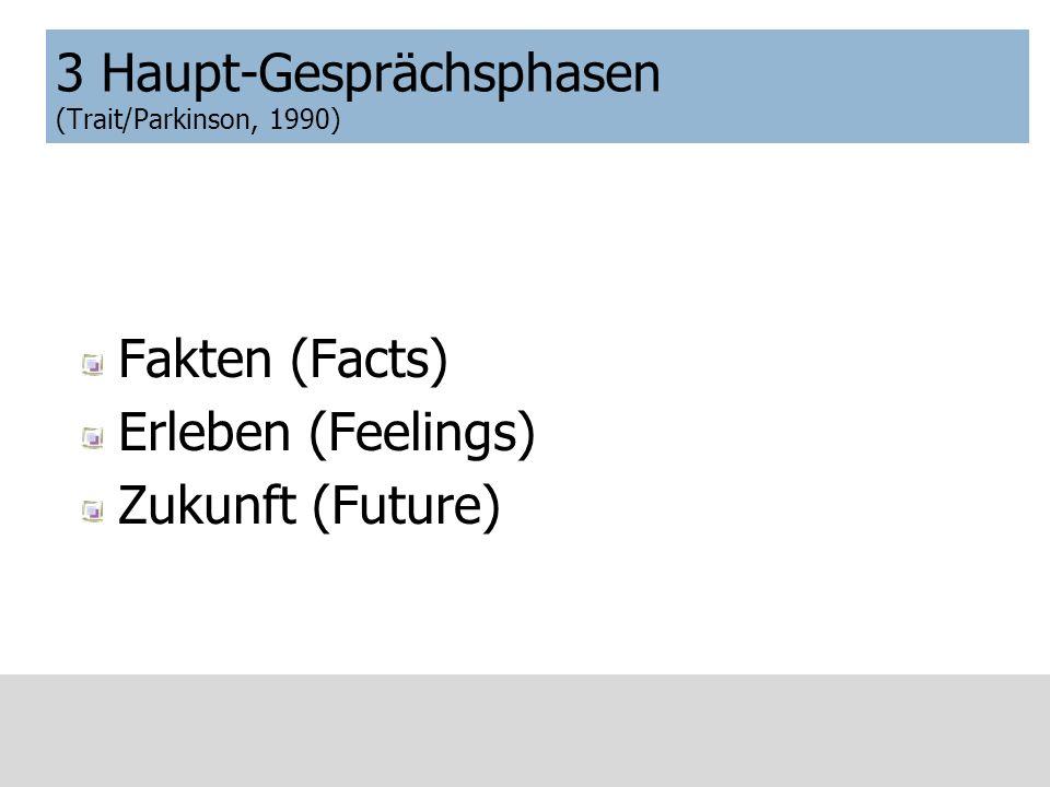 3 Haupt-Gesprächsphasen (Trait/Parkinson, 1990)
