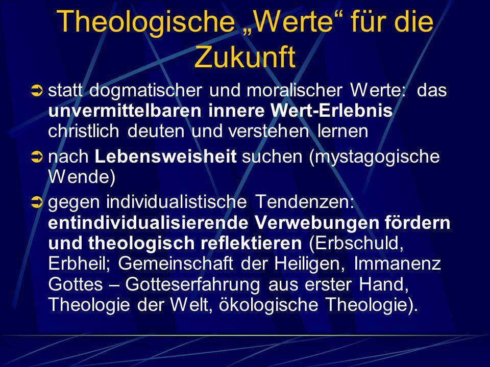 """Theologische """"Werte für die Zukunft"""