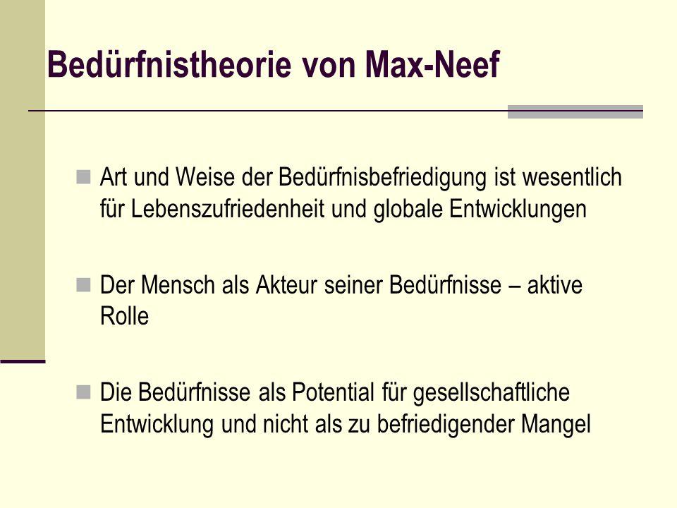 Bedürfnistheorie von Max-Neef