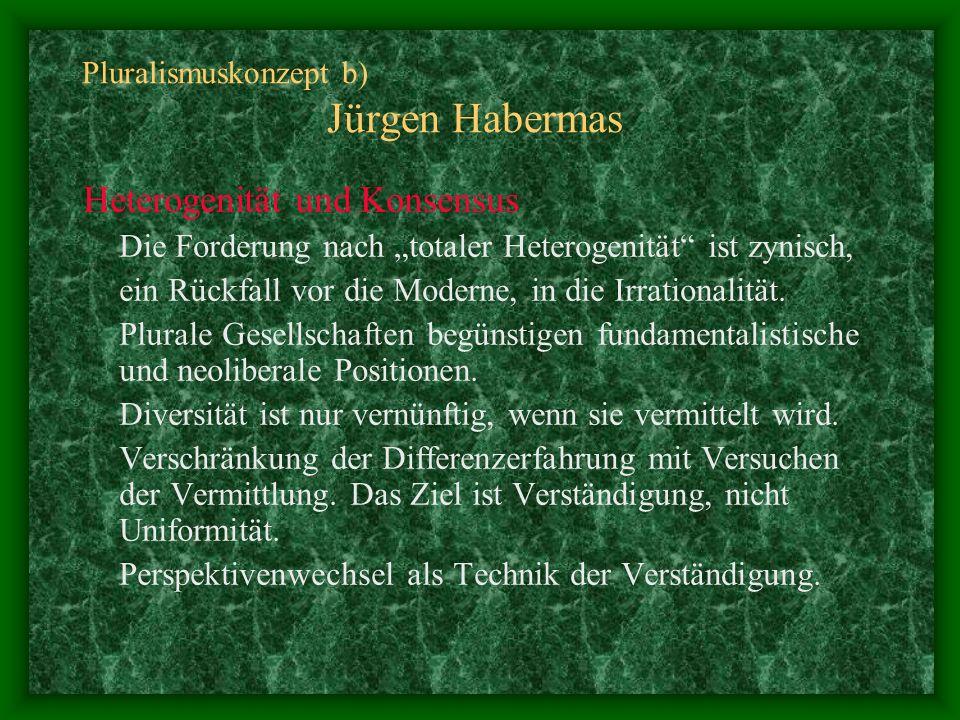 Pluralismuskonzept b) Jürgen Habermas