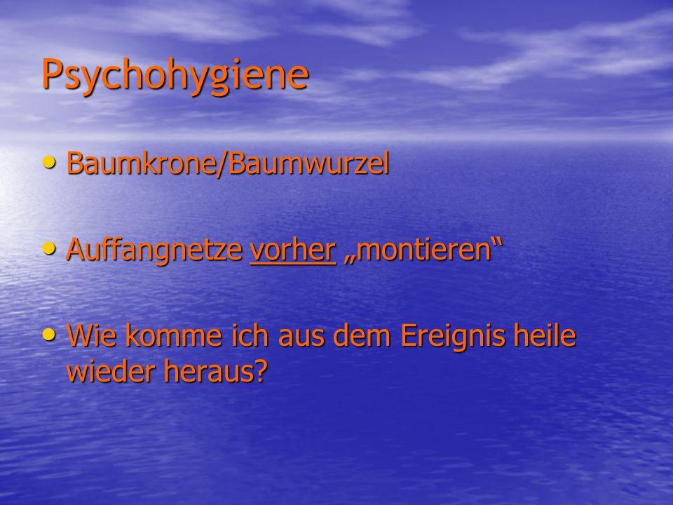 """Psychohygiene Baumkrone/Baumwurzel Auffangnetze vorher """"montieren"""