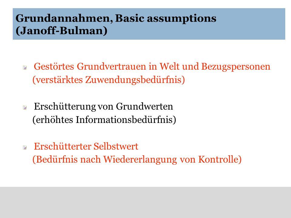 Grundannahmen, Basic assumptions (Janoff-Bulman)